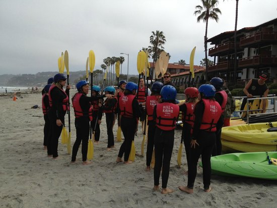 Bike and Kayak - La Jolla: Explanation by staff before we started