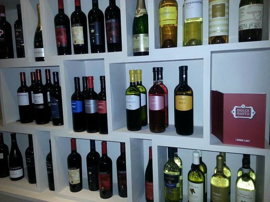 Dolce Gusto: Just a few of the specialist wines available.