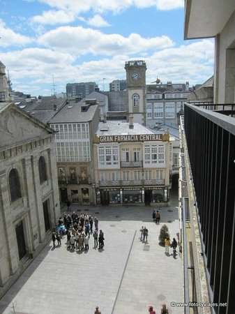 Hotel Mendez Nunez: Vista desde la habitación