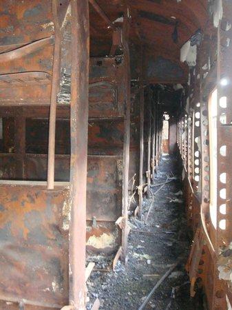 Estación Internacional de Canfranc: Vagon abandonado