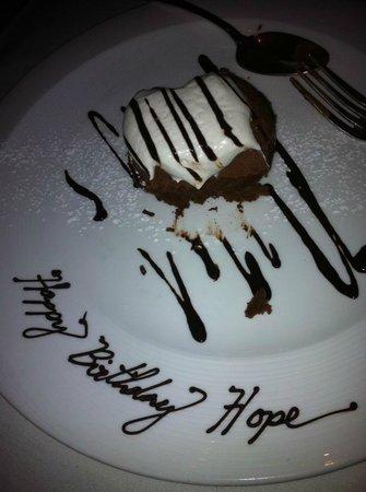 Aria : Valrhona Chocolate Cream Pie