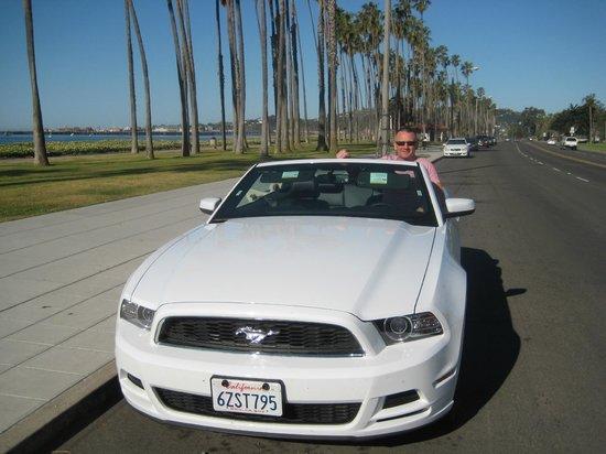 Santa Barbara Scenic Drive: Cabrillo Blvd, shoreline walk in the background