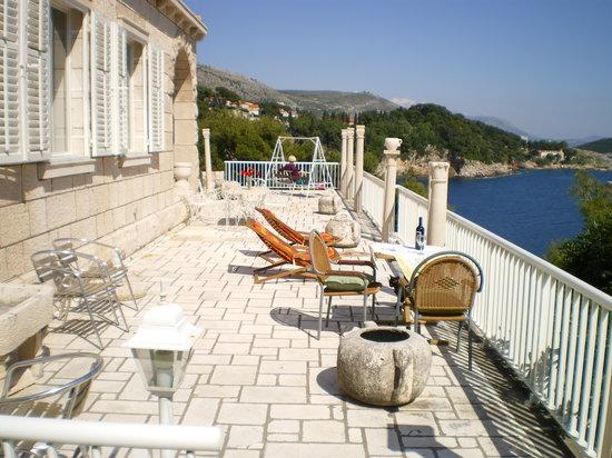 Villa Smodlaka: terasse