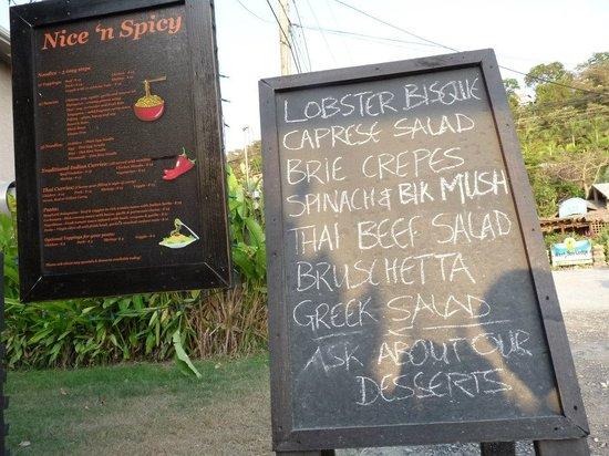 Nice 'n Spicy: appetizer menu