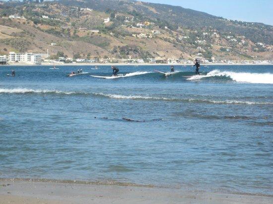 Malibu Pier: Catchin a wave!