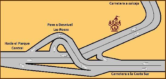 Castillo de los Altos: Mapa de ubicacion
