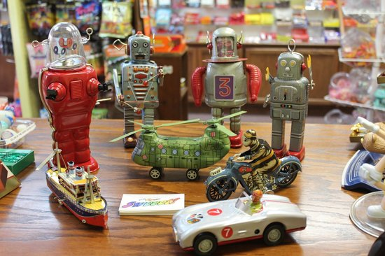 Sweeet!: Robots and Motorcycles and Helicopters, Oh My!  Tin Toys!