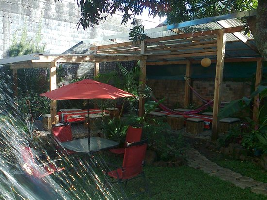 Hostel Mangifera: patio