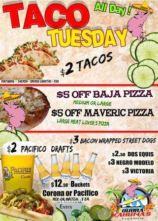 Bubba Kahunas: Taco Tuesday Every Week!