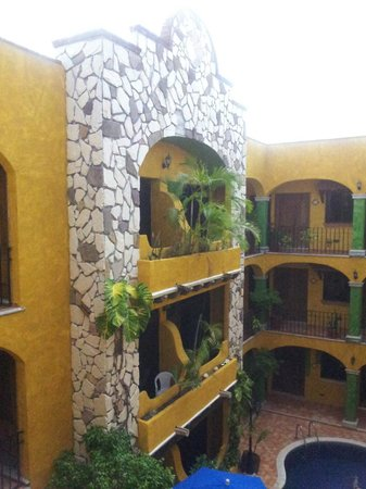 Hotel Hacienda del Caribe : Another view of the hotel from the third floor.