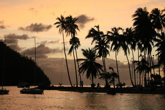 Villa Pomme d'Amour: Marigot Bay, just down the hill from the villa.