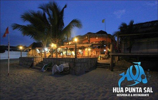 HUA Punta Sal Hotel Restaurante: Facahada del Hua