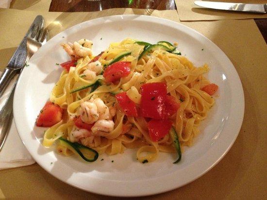 Osteria Mocenigo da Guido e Luca : Tagliatelle Mazzancolle e Zucchine