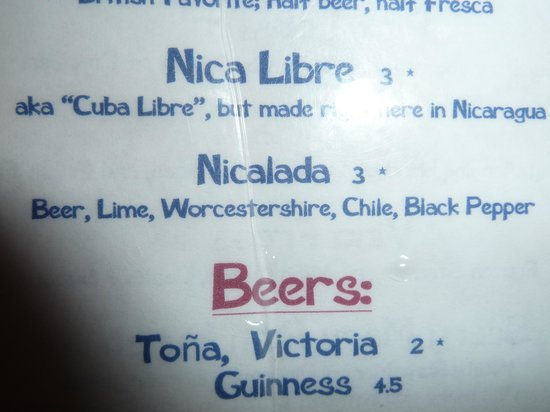 Tranquilo Cafe: Nicalada ingredients. You really do need to try it.