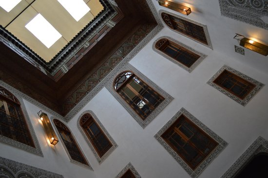 Riad Layla: view from the reception area