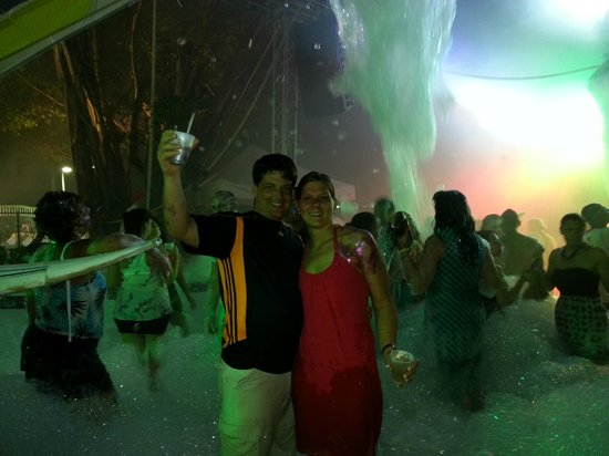 The Tropical at Lifestyle Holidays Vacation Resort: Me and My beautiful wife at the VIP party on Thursday playing in the foam