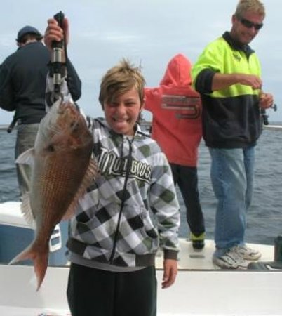 Bay Fish N Trips: Wow! First snapper caught and what a fish