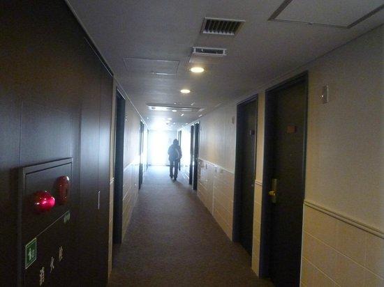 Nishitetsu Inn Kochi Harimayabashi: 部屋前の廊下
