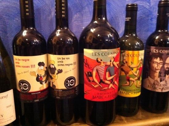 Lola Bistro : algunos de los vinos