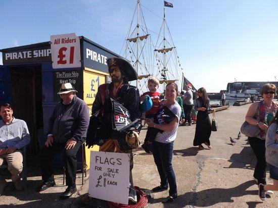 Bridlington Pirate Ship: Entrance to Pirate ship