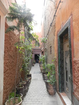 Riad 107: View of the riad on the street