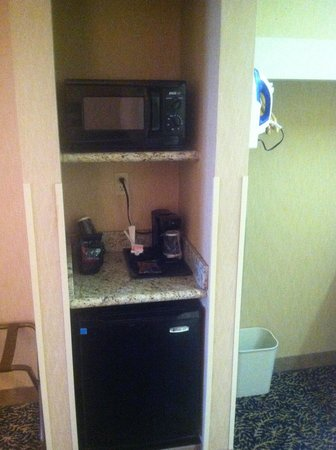 Quality Inn: refrigerator and microwave came in handy