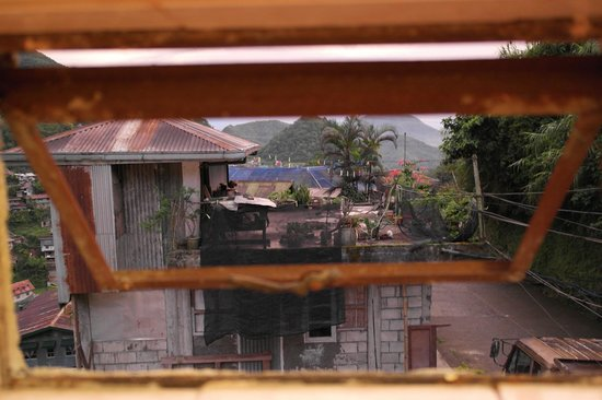 Banaue Homestay: View from the bathroom