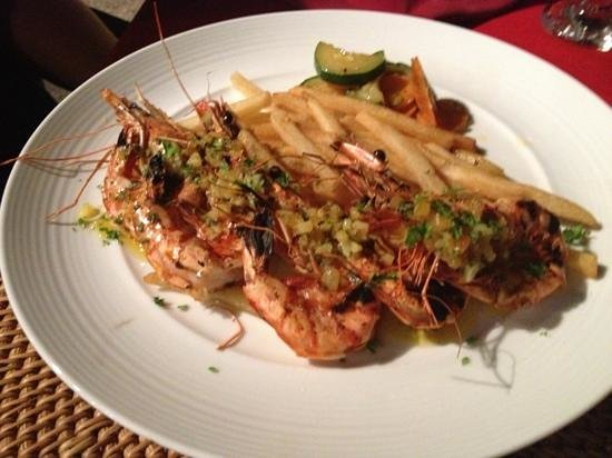 Natah Bale Villa : Garlic lemon butter king prawns