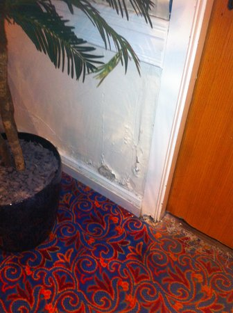 Britannia Hotel - Aberdeen: Damp and crumbling walls & door frames
