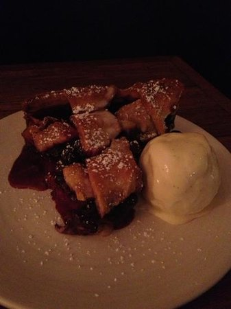 Joe's Bar and Dining Hall : Fabulous blueberry pie bursting with fruit! Topped with bourbon vanilla ice cream. Great way to