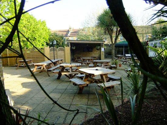 The Forester: Pleasant garden for restaurant