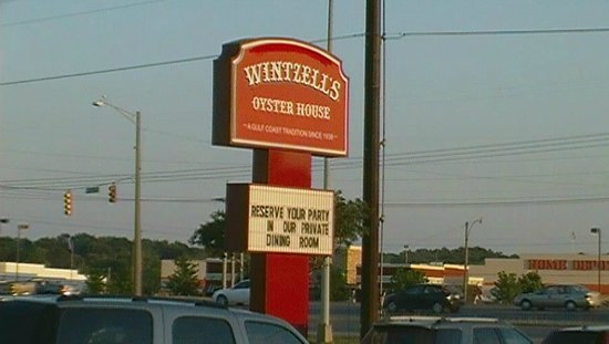 Wintzell's Oyster House: Sign