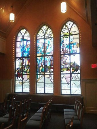 First Presbyterian Church of Flint: Windows in the new chapel