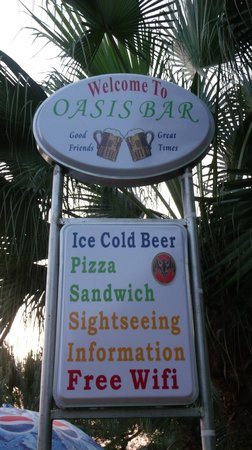 Oasis Bar: COLD BEER