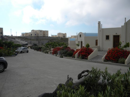 Santorini Mesotopos: View going down the driveway