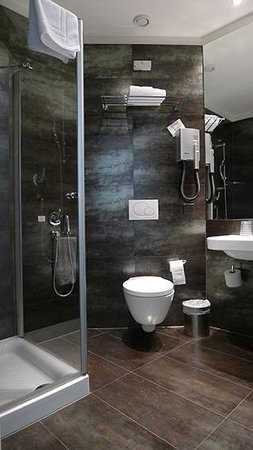 Hotel and SPA Internazionale: Petit détail: une douchette, et la cuvette des wc fait office de bidet