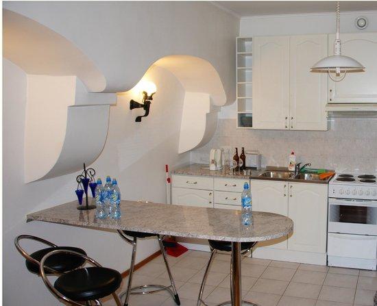 Vene 23 Apartments : Часть кухни