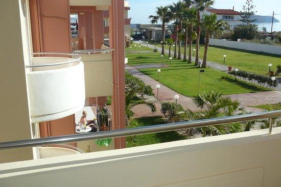 Hotel Marika: Udsigt fra vores lejlighed