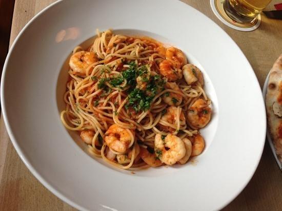 Salino: prawn pasta