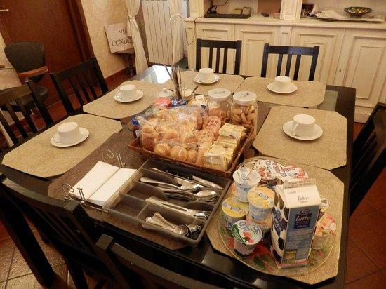 Santa Bibiana : сервировка на завтрак