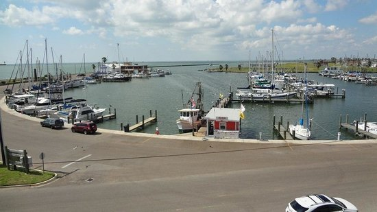 Texas Maritime Museum : Rockport Harbor from the museum Lighthouse