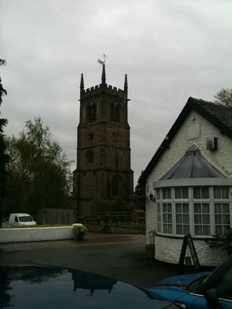 The Swan Inn: the church tower