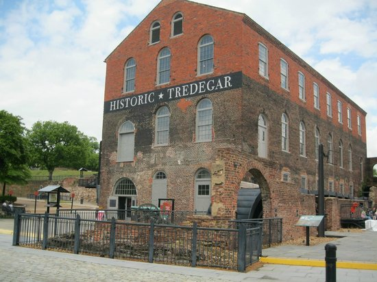 American Civil War Center at Historic Tredegar: view of the Tredegar museum from the bottom