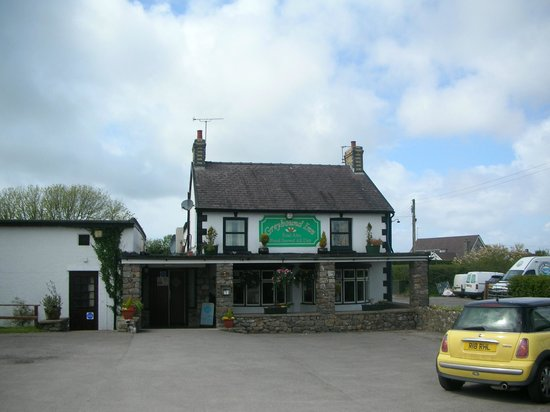 The Greyhound Inn, from car park.