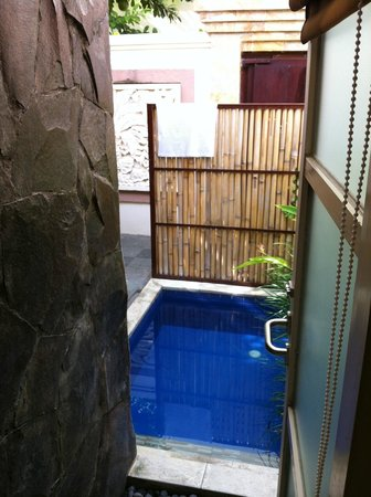 Best Western Kuta Villa: SDB vue plunge pool
