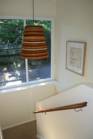 Bannisters by the sea: Downstairs access