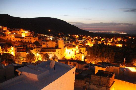 Dar KamalChaoui: Vue de la terrasse avec Fés au loin
