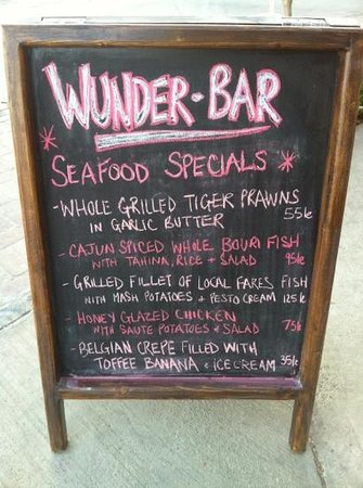 Port Ghalib, Egypten: great daily specials at Wunder-Bar