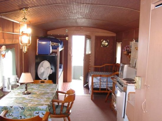 Catawissa Lodge Caboose : AT Santa Fe inside