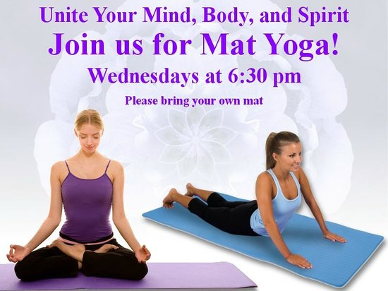Brook Pointe Inn: Mat Yoga Free to guests